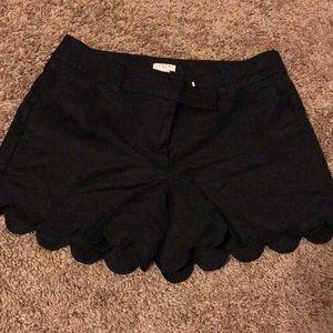 NWOT J crew scalloped shorts